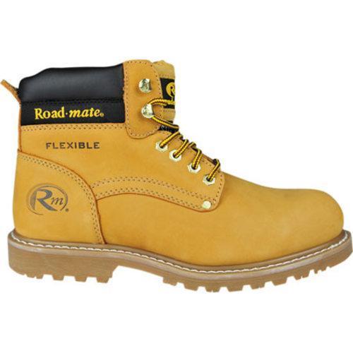 Men's Roadmate Boot Co. 647 6in Padded Collar Work Boot Honey Nubuck