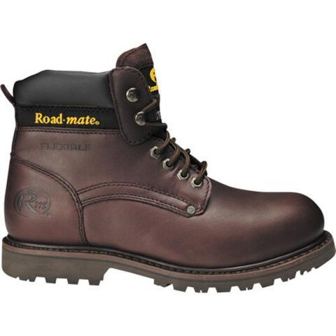 Men's Roadmate Boot Co. 647 6in Padded Collar Work Boot Steel Toe Moondance Oil Full Grain Leather