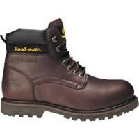 Men's Roadmate Boot Co. 647 6in Padded Collar Work Boot Steel Toe Moondance Oil Full Grain Leather