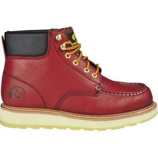 Men's Roadmate Boot Co. 955 6in Padded Collar Moc Toe Work Boot Red Oak Oil