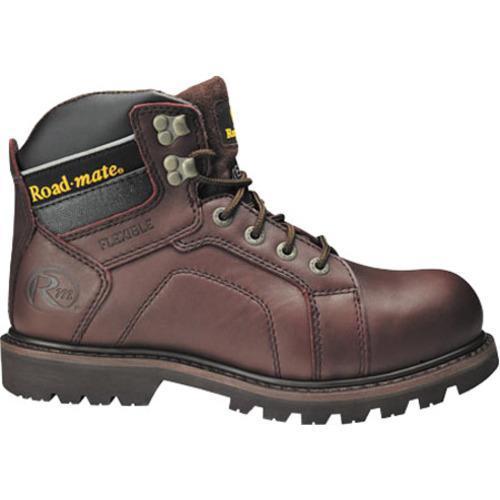 Men's Roadmate Boot Co. Gravel 6in Shock Absorbing Work Boot Moondance Oil Full Grain Leather