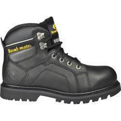 Men's Roadmate Boot Co. Gravel 6in Waterproof Shock Absorbing Work Boot Black Oil Full Grain Leather
