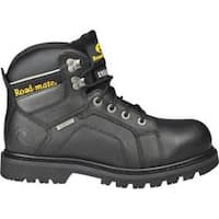 Men's Roadmate Boot Co. Gravel 6in WP Steel Toe Shock Absorbing Work Boot Black Oil Full Grain Leather
