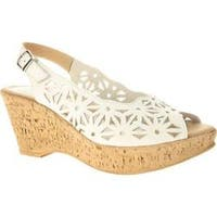 Women's Spring Step Abigail White Leather