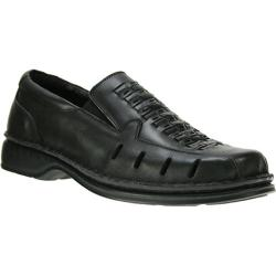 Men's Spring Step Alex Black Leather