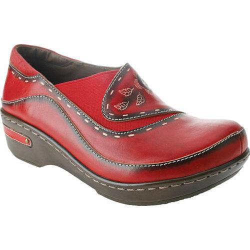 Women's Spring Step Burbank Red Leather