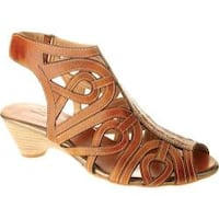 Women's Spring Step Flourish Natural Leather