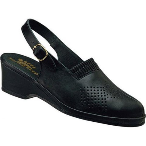 Women's Spring Step Gina Black Leather