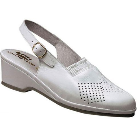Women's Spring Step Gina White Leather