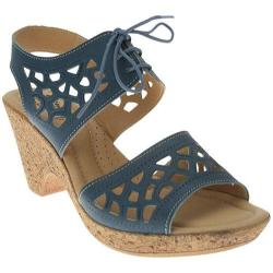 Women's Spring Step Lamay Blue Leather