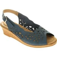 Women's Spring Step Orella Blue Nubuck