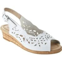 Women's Spring Step Orella White Leather