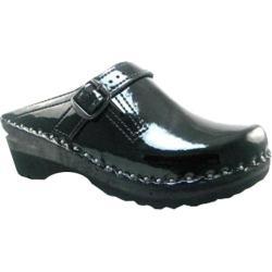 Women's Troentorp Bastad Clogs Donatello Black Patent