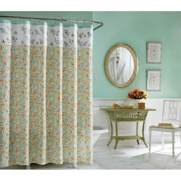Laura Ashley Birds And Branches 100-percent Cotton Shower