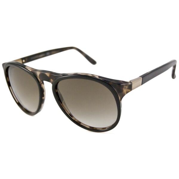 Gucci Men's GG1014 Black-Havana Aviator Sunglasses