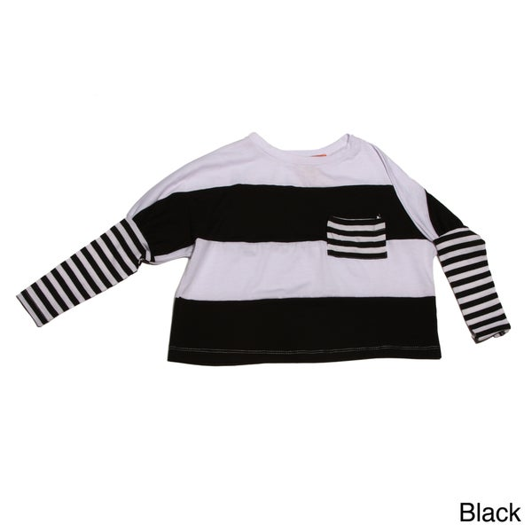 Funkyberry Girls Long Sleeve Striped Top