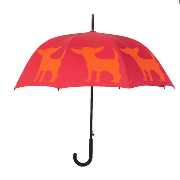 Chihuahua Pink and Orange Umbrella