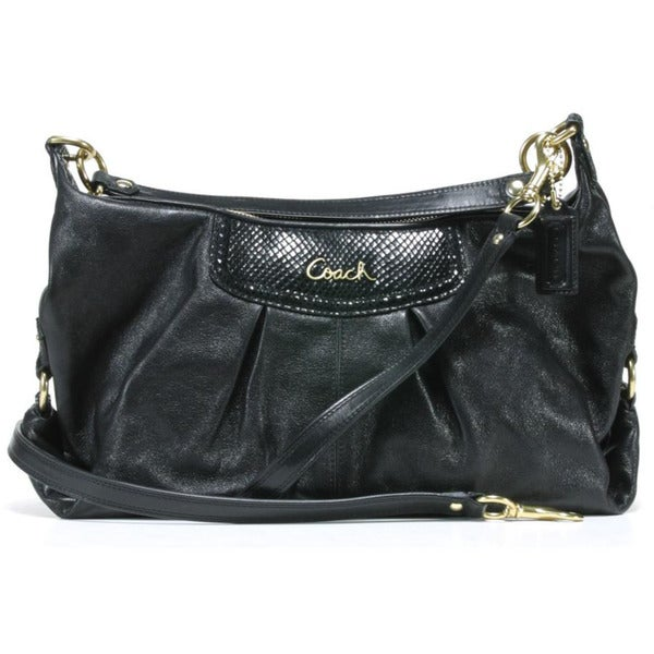 cd2f36396 Shop Coach 'Ashley' Black Leather Convertible Hobo Bag - Free ...