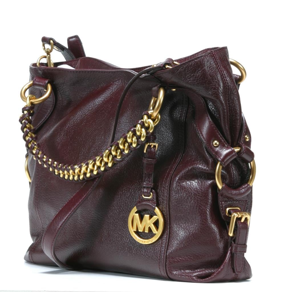 Shop MICHAEL Michael Kors  Tristan  Large Bordeaux Leather Tote Bag - Free  Shipping Today - Overstock - 7940929 449d16e90a339
