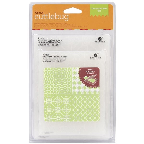 Cricut Cuttlebug Embossing Folders 4/Pkg-Decorative Tile