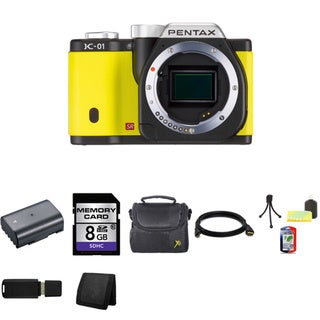 Pentax K-01 16MP Yellow Digital SLR Camera Bundle (Body Only)