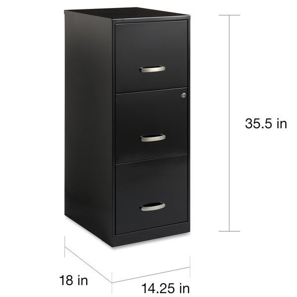 Office Designs 3 Drawer Black Steel File Cabinet   Free Shipping Today    Overstock.com   15315653 Awesome Design