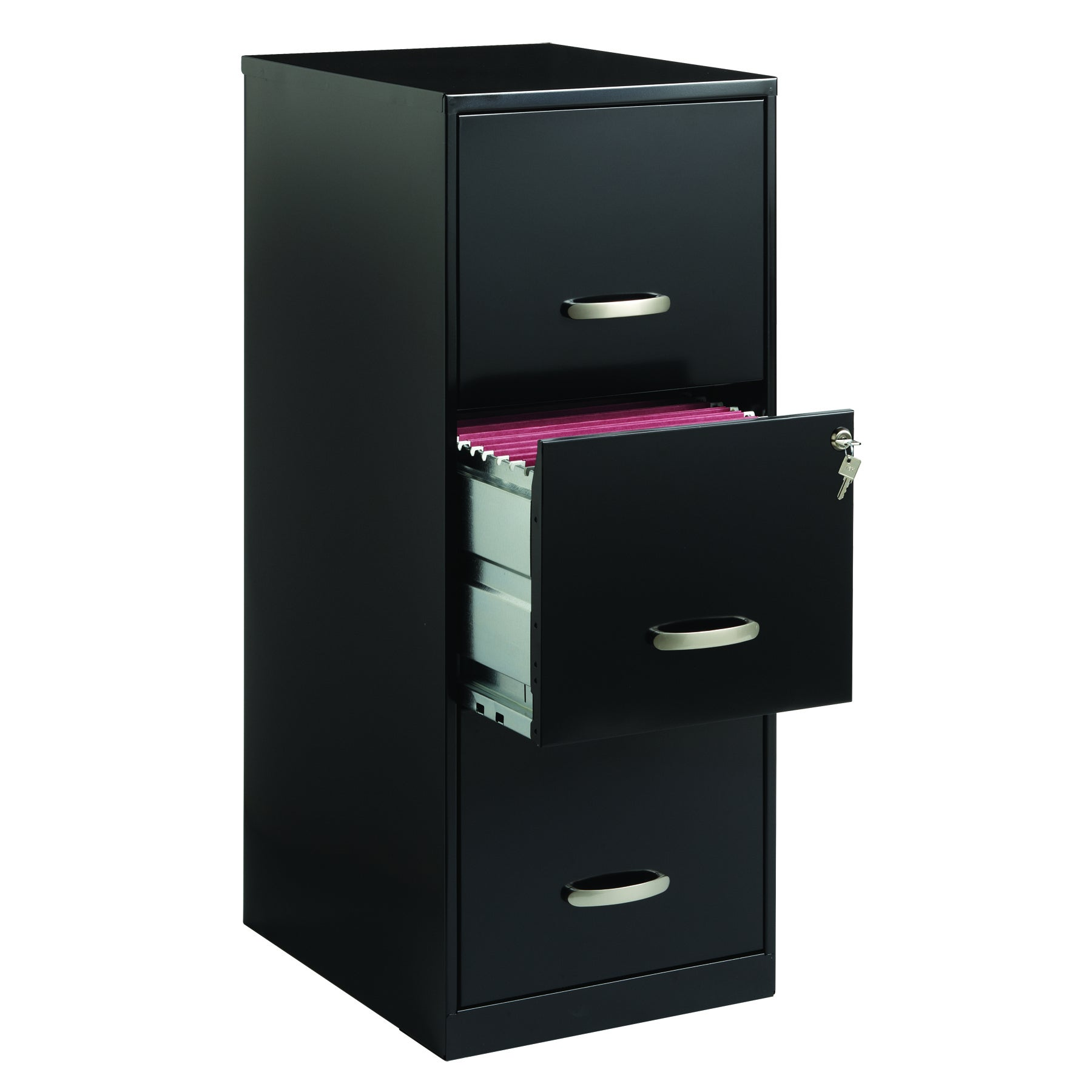 Space Solutions 34-drawer Black Steel File Cabinet