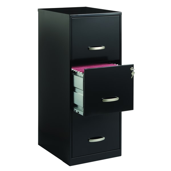 Office Designs 3 Drawer Black Steel File Cabinet - Free Shipping Today
