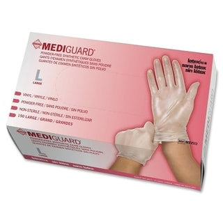 Mediguard Large Vinyl Exam Gloves (Case of 1500)