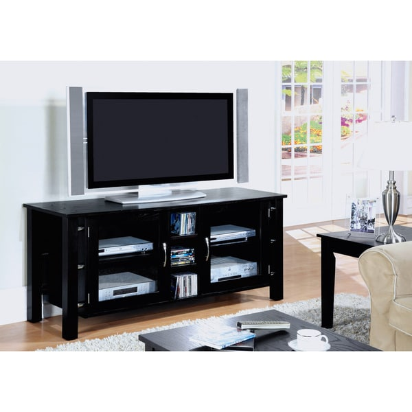 Black Oak Veneer TV Console