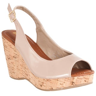 Riverberry Women s Vesper Patent Slingback Wedges Free Shipping Orders Over $45