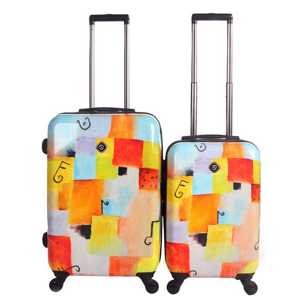Neocover Notes Squared 2-piece Hardside Spinner Luggage Set