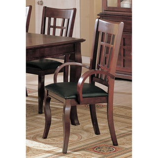 Coaster Company Dark Cherry and Leatherette Armchairs (Set of 2)