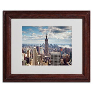 Nina Papiorek 'Empire View' Traditional Framed Matted Art
