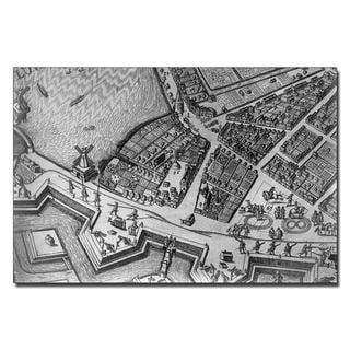 'Map of Hamburg, 1690' Canvas Art