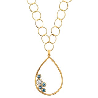 Collette Z Goldplated Sterling Silver Blue Quartz Pear-shaped Necklace