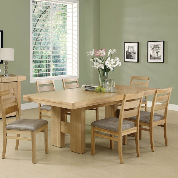 Natural oak veneer dining table free shipping today 15316074 - Oak veneer dining table ...