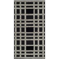 "Safavieh York Modern Charcoal/ Black Check Area Rug - 2'7"" x 5'"