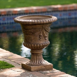 Zeus 20-inch Antique Clay Urn Planter by Christopher Knight Home