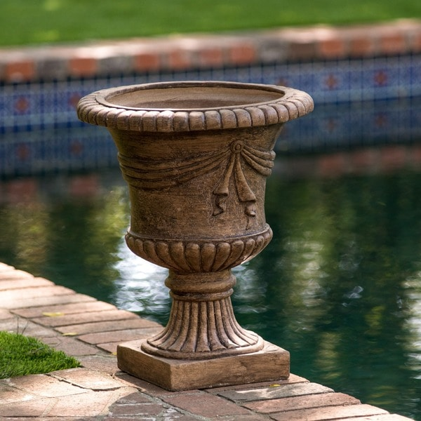 Zeus 20 Inch Antique Clay Urn Planter By Christopher Knight Home