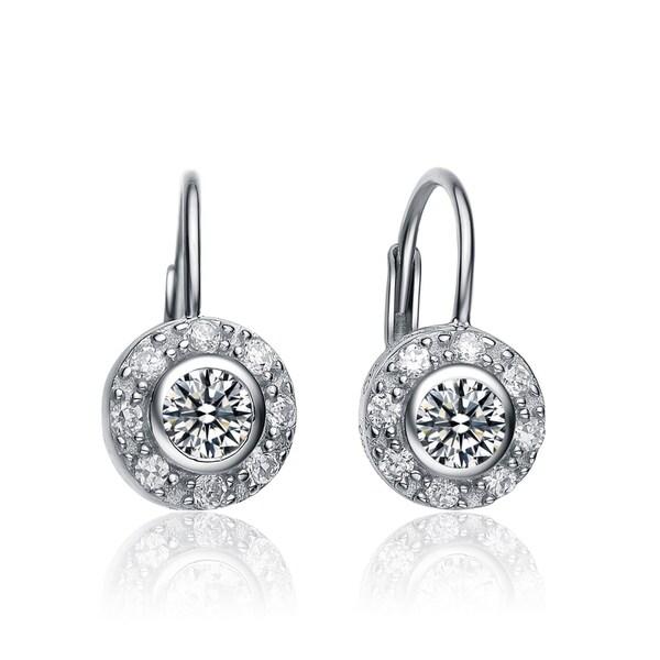 Collette Z Sterling-Silver Cubic Zirconia Round Stud Earrings