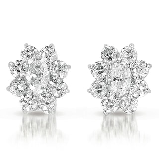Collette Z Sterling-Silver Cubic-Zirconia Flower-Shaped Earrings with Butterfly Clasps