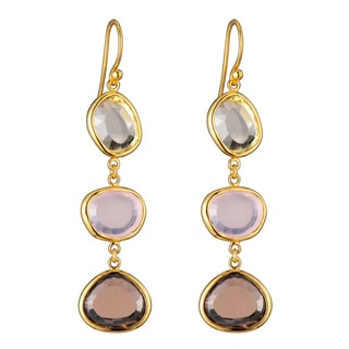 Collette Z Goldplated Sterling Silver Multi Color Dangling Earrings