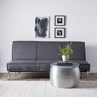 Shop Vitoria 76 Inch Charcoal Grey Sleeper Sofa Bed With