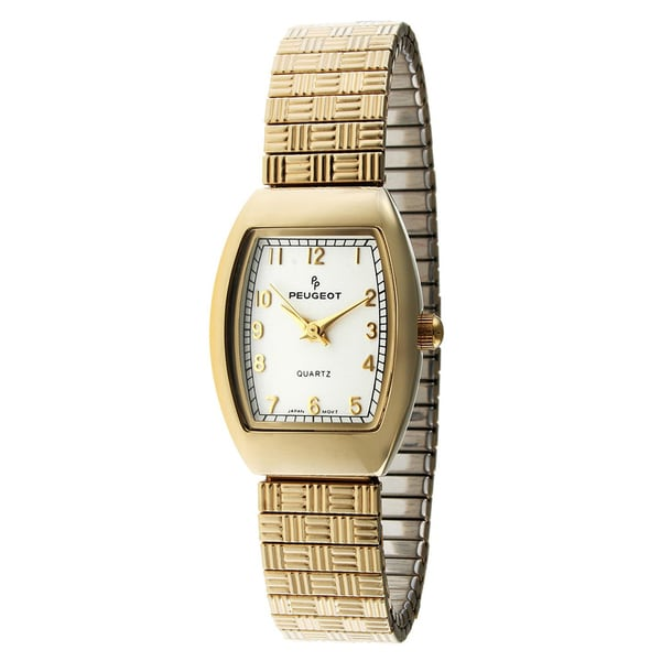 Peugeot Women's White Goldtone Expansion Watch