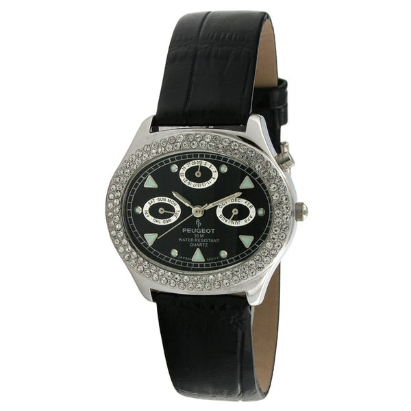 Peugeot Women's Crystal-accented Multi-function Watch