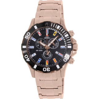 Swiss Precimax Men's 'Armada Pro' Rose Goldtone Swiss Chronograph Watch