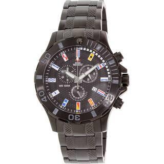 Swiss Precimax Men's 'Armada Pro' Black Dial Swiss Chronograph Stainless-Steel Watch|https://ak1.ostkcdn.com/images/products/7941686/P15316759.jpg?impolicy=medium