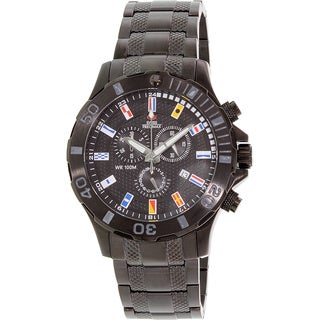 Swiss Precimax Men's 'Armada Pro' Black Dial Swiss Chronograph Watch