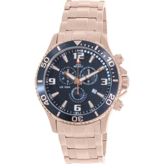 Swiss Precimax Men's 'Tarsis Pro' Rose Goldtone Water-Resistant Swiss Chronograph Watch